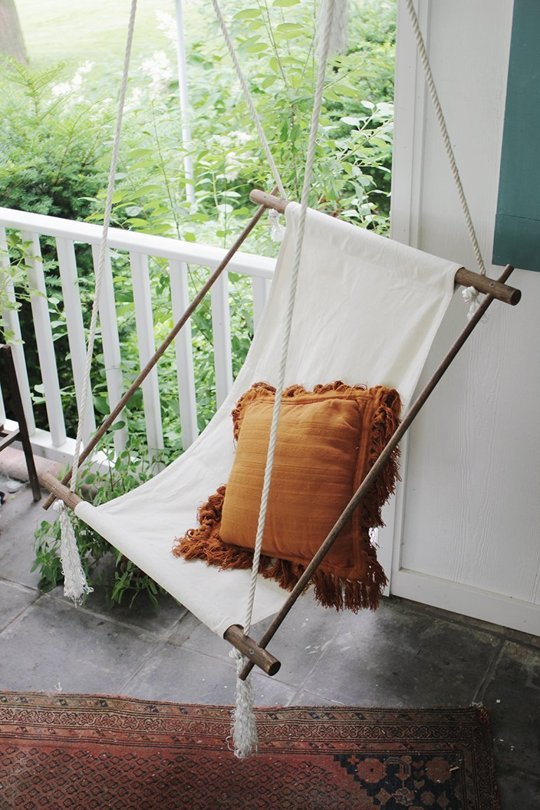diy outdoor chair swing