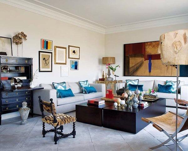 Chic Living Room Decorating Ideas and Design  ELLE Decor